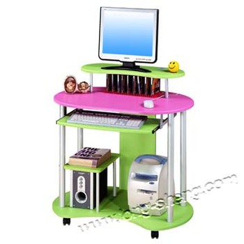 Colorful Computer Table Design Kids Computer Desk Table With Wheels