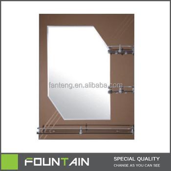 Saudi Arabia Style Bathroom Wall Mirrorbeveled Glass Mirror With Shelf