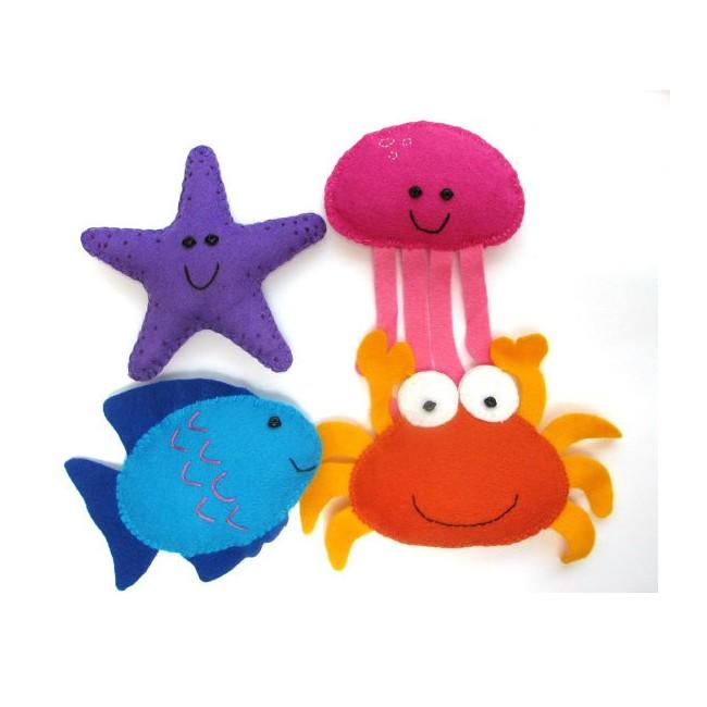 High Quality Handmade Felt Sea Animals Toys Cute Kids Diy ...