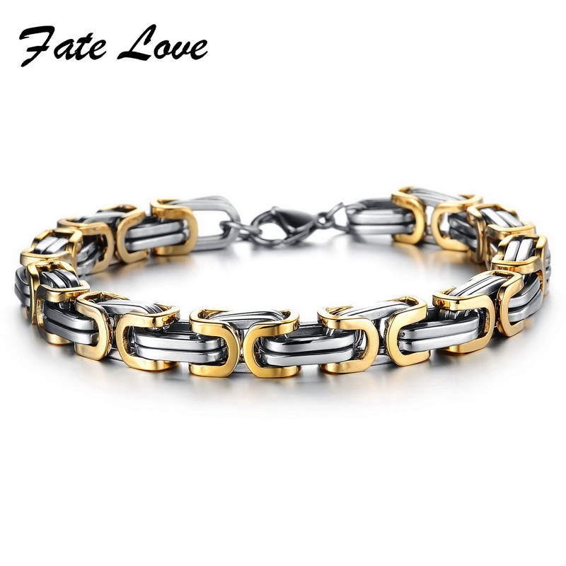 2015 Classic Design Punk 316L Stainless Steel Bracelet Special Biker Bicycle Motorcycle Chain For Mens Bracelets