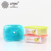 Rectangle transparent plastic airproof preserving box for sale