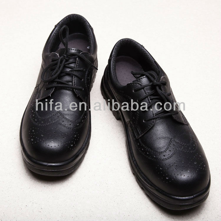 black Leather Security Shoes Safety Shoes