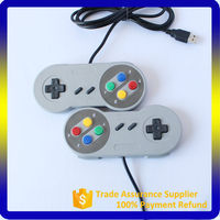 For SFC PC Wired Game Controller Compatible Platform and Joystick Type for snes USB controller