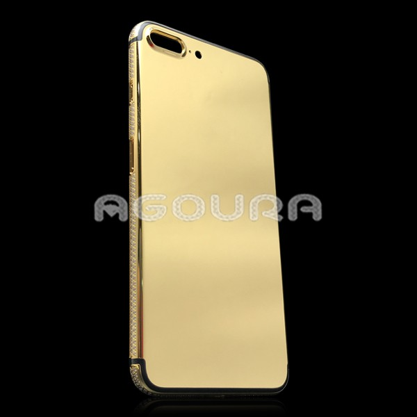 OEM 24K gold plated housing,mirror finish plated gold housing back cover for Iphone7