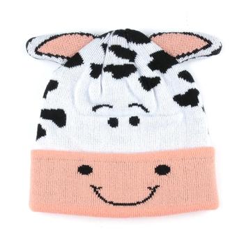 Dropshipping Exclusive Cute Printed Cow Beanie Hat For Children ... 25e4b1b367b