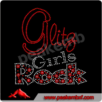 Shinning Girls Rock Hotfix Rhinestone Transfers Letters Wholesale
