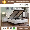 SS8620 Omir furniture 2015 new luxury storage lift up bed for bedroom contemporary fabric storage bed for wholesale