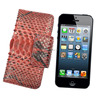 Detachable Wallet Leather Case for iPhone 5 5S Genuine Python Skin Wallet Case