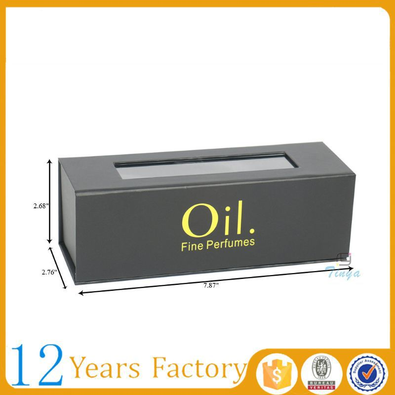 cardboard window olive oil packaging box