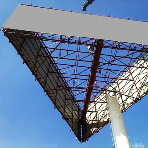 UniPole Steel Structure Highway Advertising Tower Billboard