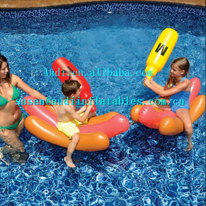 jousting in the water INFLATABLE HOT DOG BATTLE POOL FLOAT BY SWIMLINE