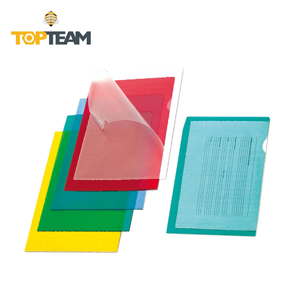 TOPTEAM PRESENT & PROTECTING L-shaped Folder PVC Tinted hanging file folder what is composition folder