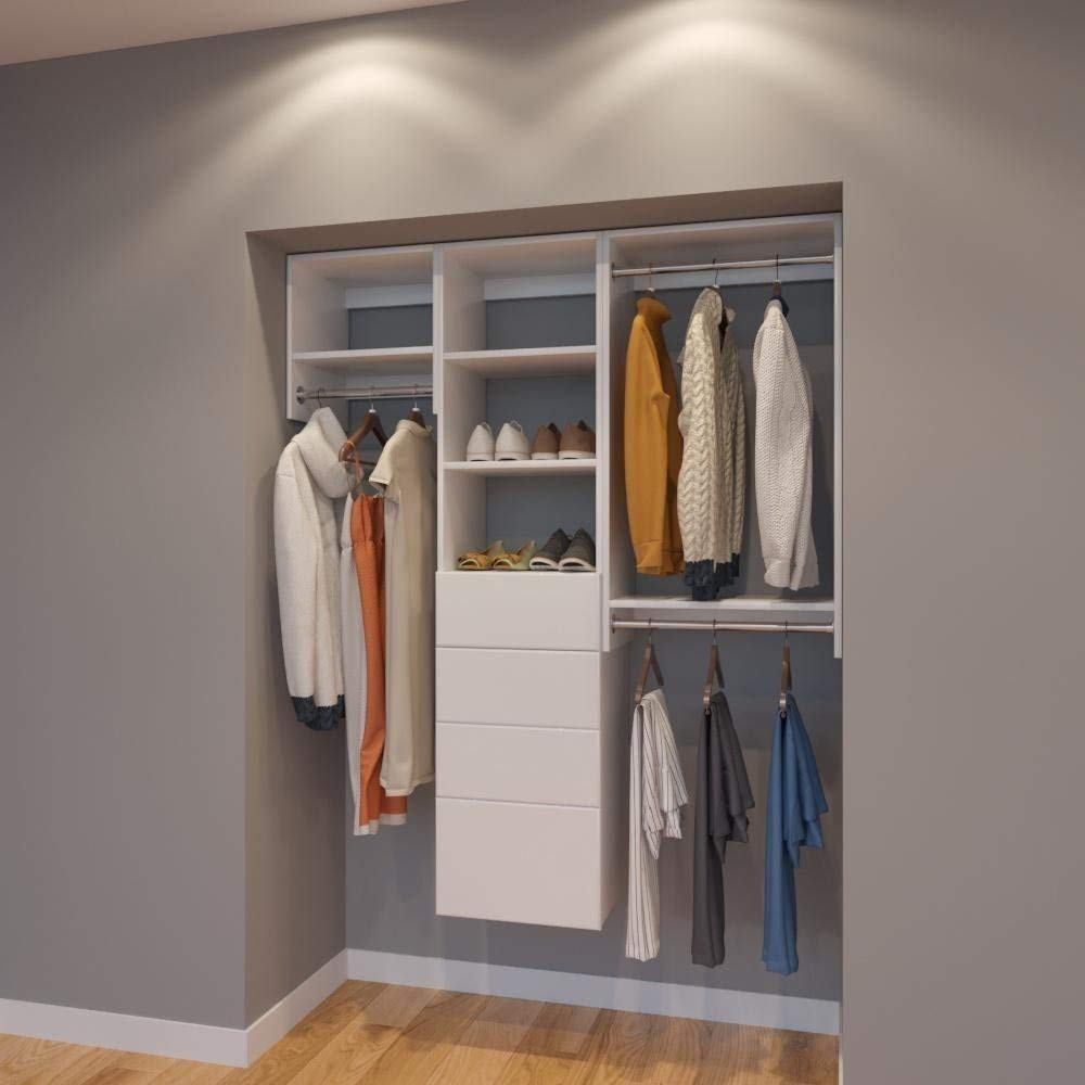 Exceptionnel Modular Closets 5 FT Closet Organizer System   60 Inch   Style A