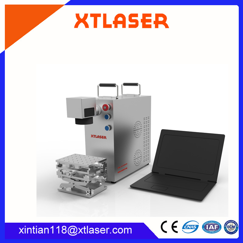 MINI fiber laser marking machine with Raycus laser source for metal