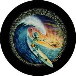 Surfing Alien Spare Tire Cover for Jeep RV and more (Select from popular sizes in drop down menu or contact us-ALL SIZES AVAILABLE)