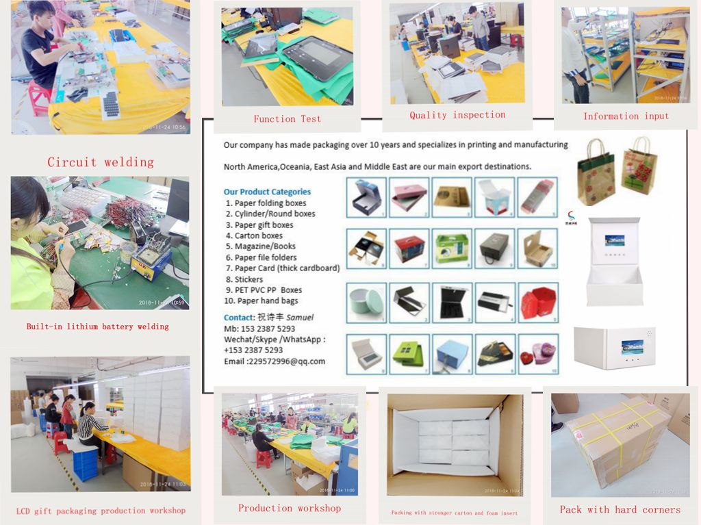 """10.1"""" LCD video advertising player counter pop display with cardboard"""