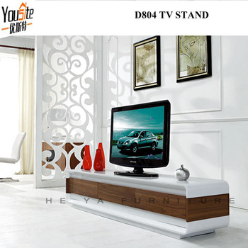 Walnut wooden lcd Tv Unit Wood furniture exquisite designs