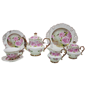 Vintage Custom Ceramic Beauty And the Beast Afternoon 13pcs Fancy Tea Set
