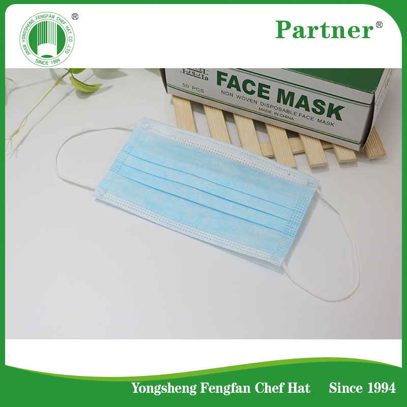 Face Mask For Disposale Used By Surgical/3 Ply Face Mask With Earloops 2017