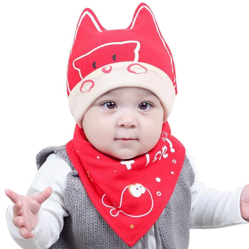 baa682d70 Buy Baby Cap Scarf Set, iKuboo Soft Cotton Warm Cute Scarf Caps Hats ...