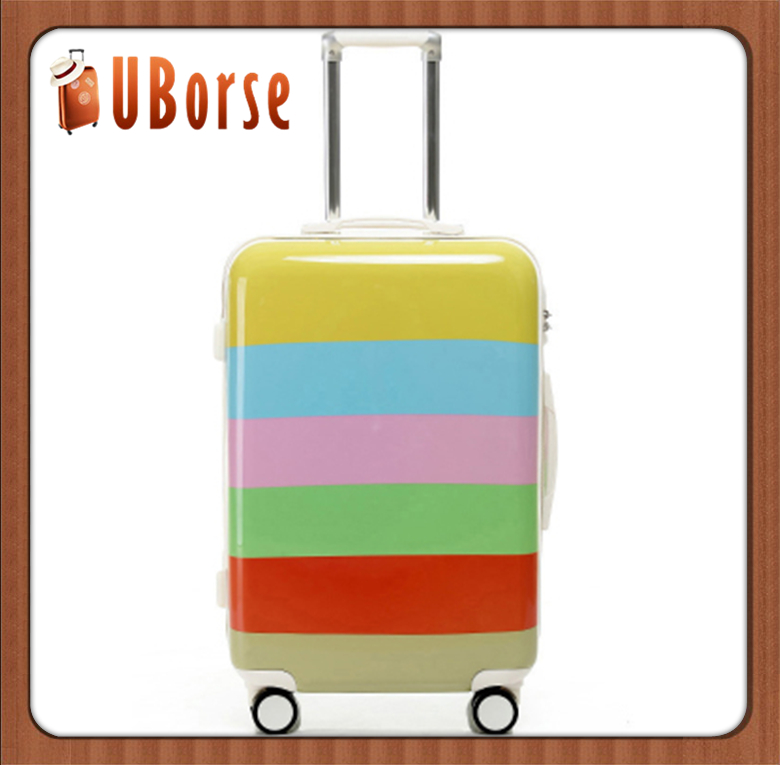 cabin size hard case luggage 20'' 24'' 28'' 3pcs abs+pc children travel trolley luggage set cartoon printing