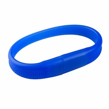 Event Giveaways Silicon Wristband Usb Flash Drive, Silk-screenLogo Bracelet Usb Pendrive, Promotional Gift Usb Flash Drive