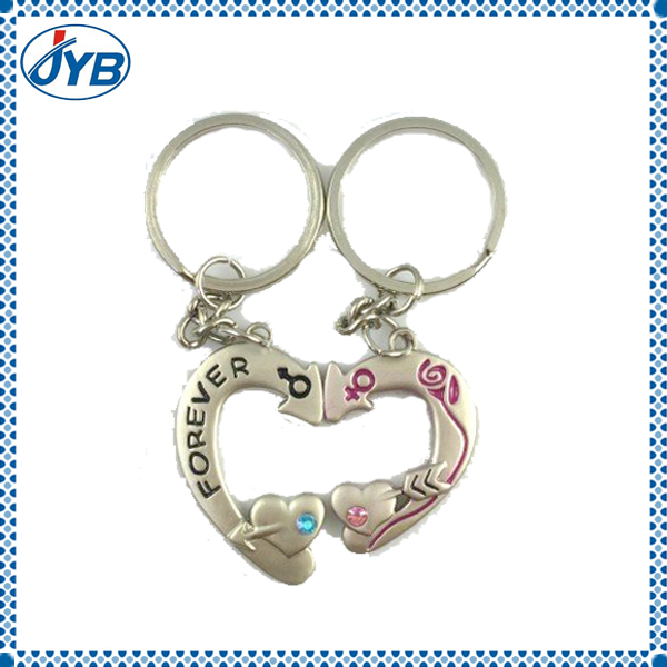 split heart keychain love heart keychain heart with lock keychain