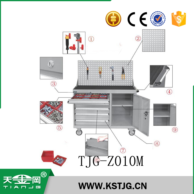 TJG-Z010M roller cabinet type heavy duty steel tool box for garage workshop