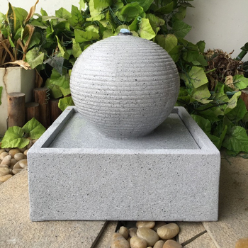Stone Ball On Cube Fountain For Garden Decoration Buy Cube Awesome Stone Ball Garden Decoration