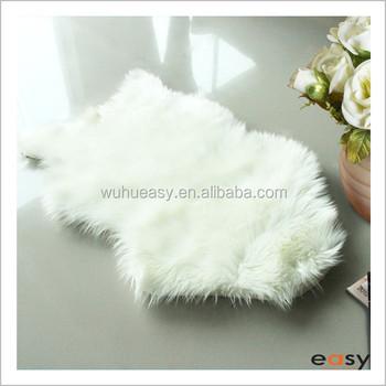 Soft Animal Shaped Polyester Silk Area Rug Fluffy Carpet