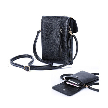 a8c7ba3fa719b SB543 PU Leather Small Crossbody Bag Wallet Purse Cellphone Pouch with Shoulder  Strap for Women Girls