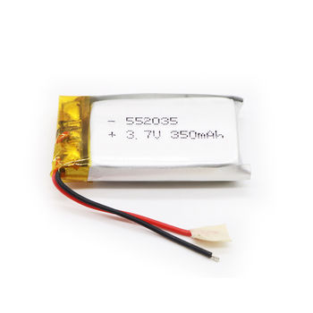 Rechargeable lithium battery 552035 3.7V 350mAh for MP3