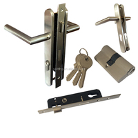 China Supplier Quality Stainless Steel Door Handle With Lock Set