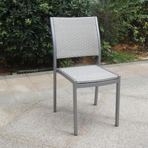 Garden aluminum rattan outdoor dining side chair