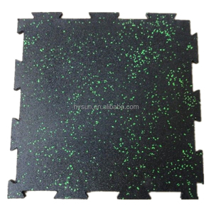 Stores Interlocking Gym Flooring Rubber Tiles 10mm thickness 1m size