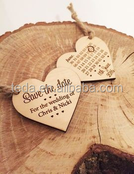 Free shipment Wooden packaged tags Saved the <strong>Dates</strong>
