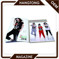 Popular Girl's Clothing Magazine Book Printing Coated paper A4 perfect binding