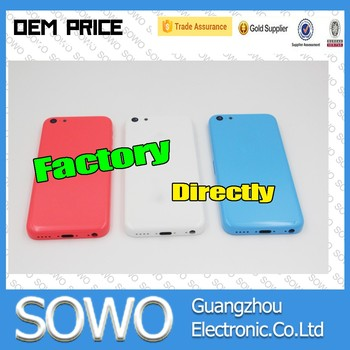 for iphone 5c back cover, for iphone 5c housing replacement