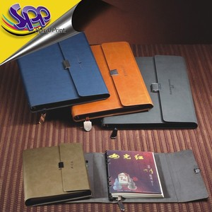 Finely processed business notebooks gift and leather notebook and pen set