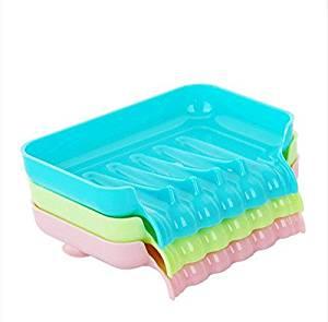 SSBY-Creative multi purpose drain, suction cup SOAP dish, tank foam debris storage boxes, soap boxes , [three]