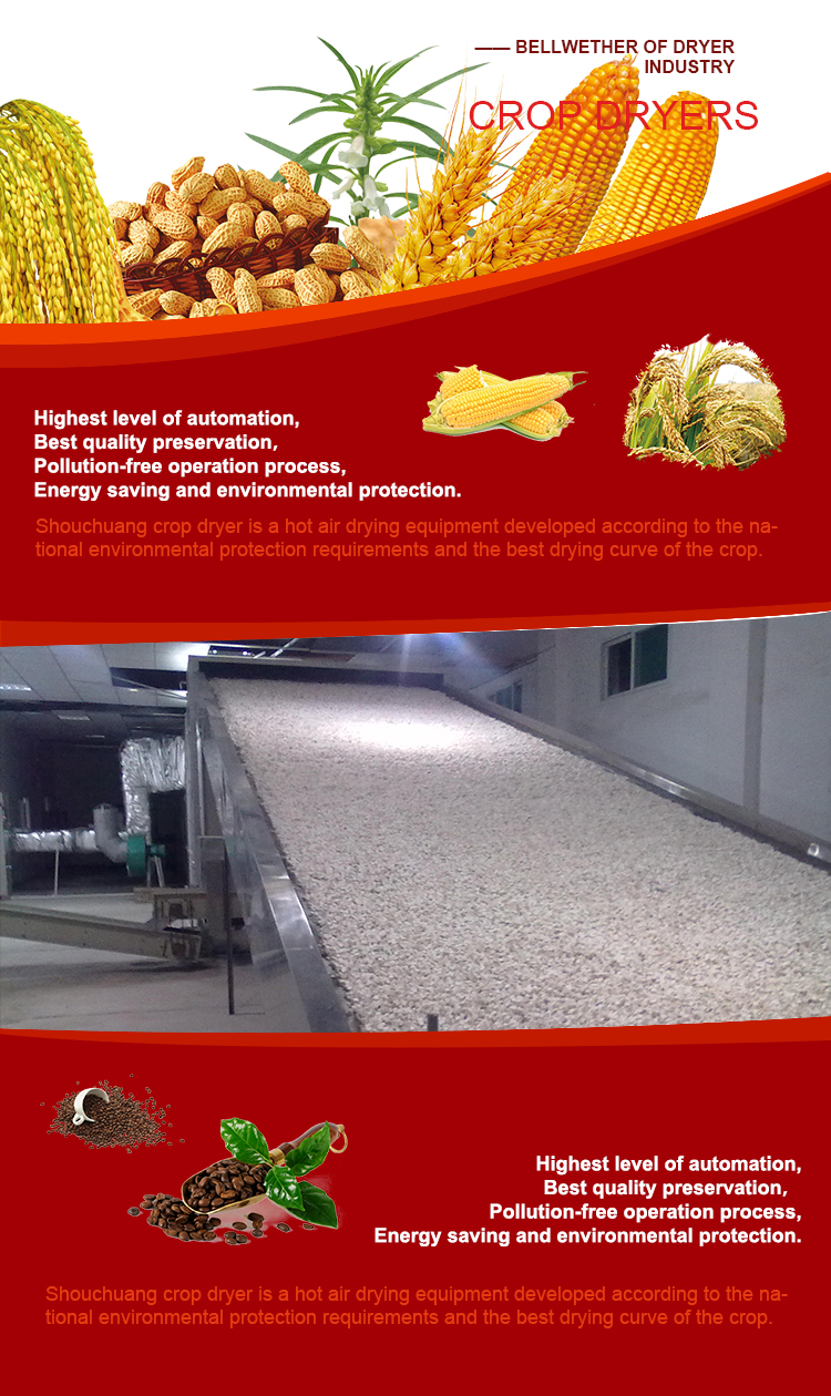 china agriculture machinery spent grain mechanical dryers