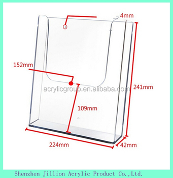 acrylic wall mount flyer a5 poster holder