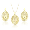 63689 Xuping fashion tear style hot new production magnet 14k gold two pieces jewelry set