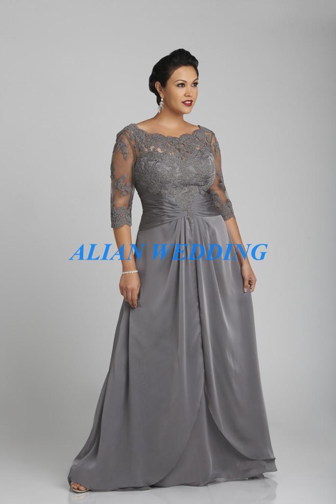 Aliexpress.com : Buy Plus Size Mother of Bride Dress Three ...