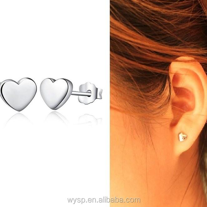 2016 Hot Sale Simple Minimalist Silver Stud Bar Earrings Line ...