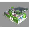 Good quality store modern juicer bar kiosk