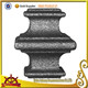Gate and fence ornamental wrought iron studs cast iron collars