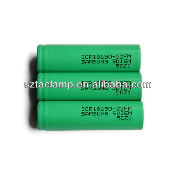 Newest samsung 18650 2200mAH 3.7v rechargeable li-ion battery cell ICR 18650-22FM