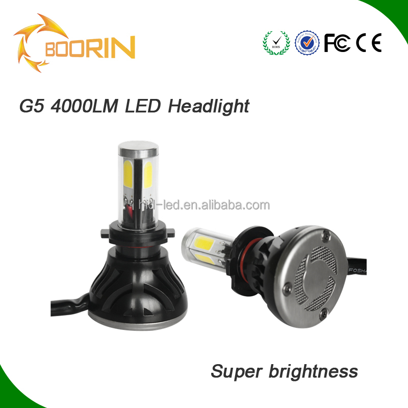 Guangzhou car accessories shops auto parts 40W 4000LM cob LED car headlight kit 3000k 6000k 8000k led bulb for cars and motor
