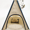 Hot Selling Kids Grey and White Four Pole Indian Small Tents for Girls and Boys Outdoor Toys